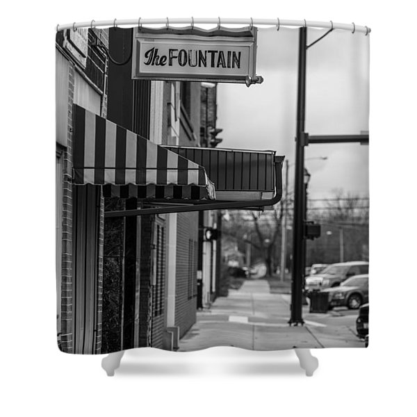 Pepsi The Fountain Sign Shower Curtain