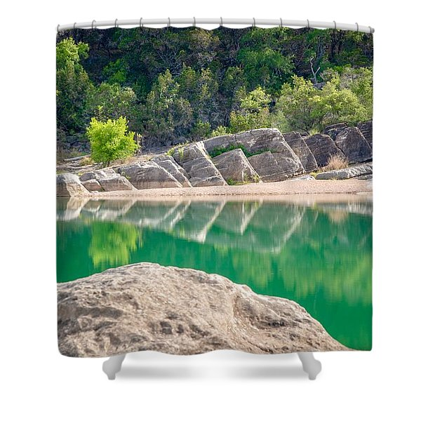 Perdernales Falls Shower Curtain