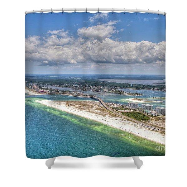 Perdido Pass Aerial 3029 Shower Curtain