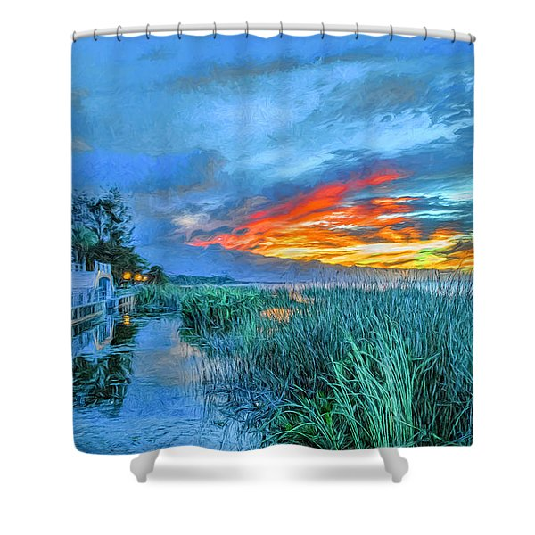 Perfect End Of Day. Shower Curtain