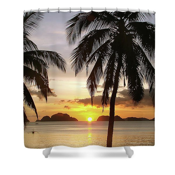 Perfect Evening - Vertical Shower Curtain