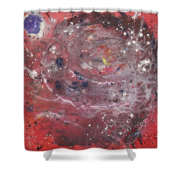 Shower Curtain featuring the painting Perfect Storm by Michael Lucarelli