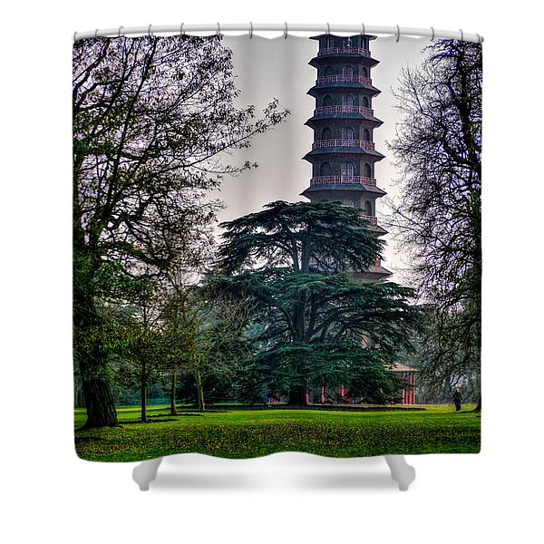 Pergoda Kew Gardens Shower Curtain