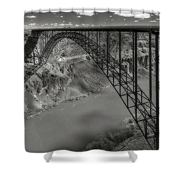 Perrine Bridge, Twin Falls, Idaho Shower Curtain
