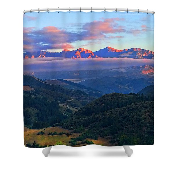 Perrozo Morning Shower Curtain