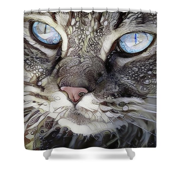 Perry The Persian Cat Shower Curtain