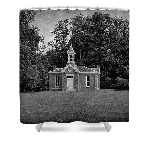 Perry Township School No. 3 B W Shower Curtain