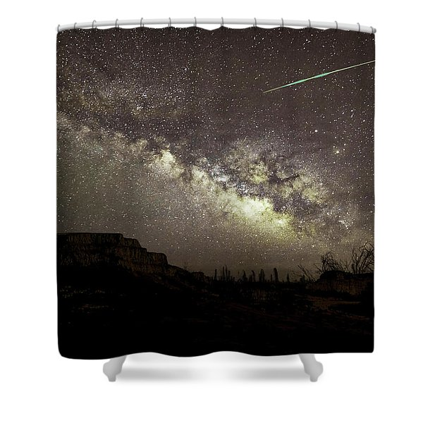 Perseids Milky Way Shower Curtain