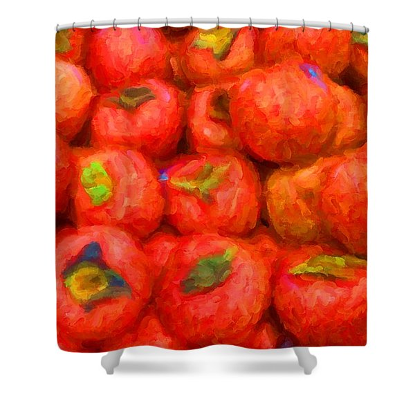 Persimmons Shower Curtain