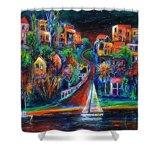 Perth By Night Shower Curtain