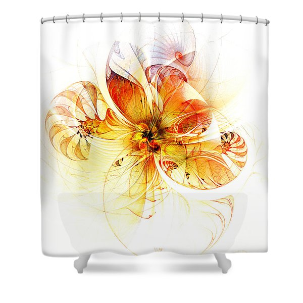 Petals Of Gold Shower Curtain