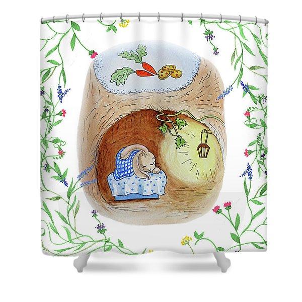 Peter Rabbit Watercolor Illustration I Shower Curtain
