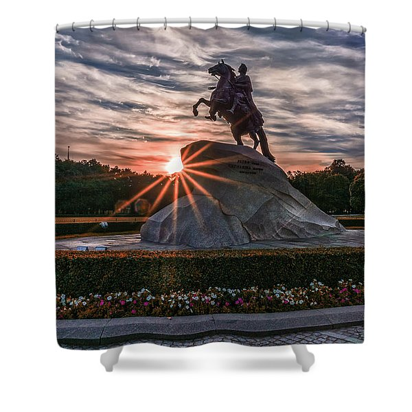 Peter Rides At Dawn Shower Curtain