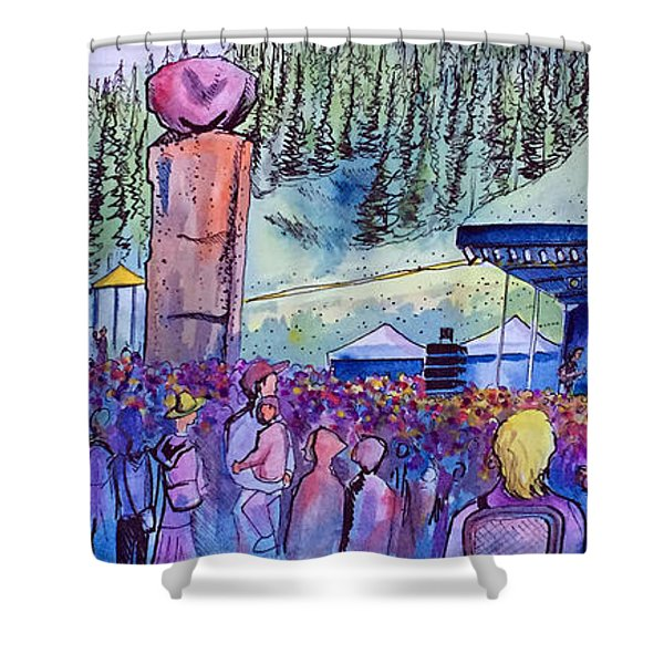 Peter Rowen At Copper Mountain Shower Curtain