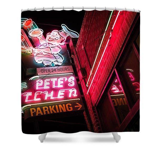 Pete's On Colfax Shower Curtain