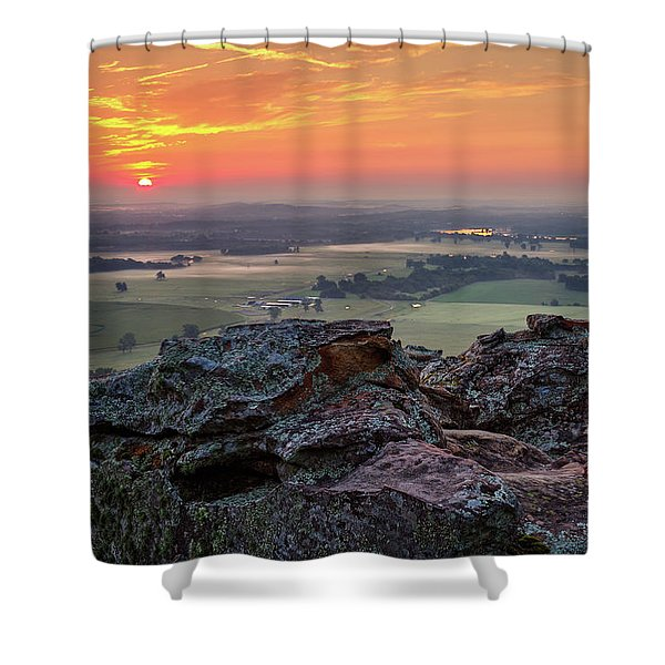 Petit Jean Sunrise Shower Curtain