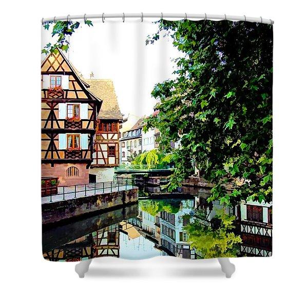 Petite France - Strassbourg, France Shower Curtain