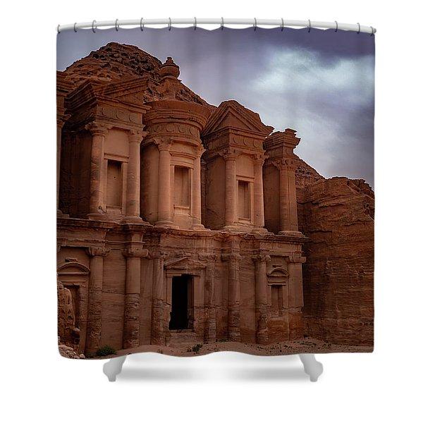Petra's Monastery Shower Curtain