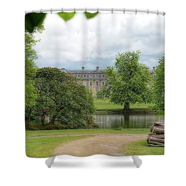 Shower Curtain featuring the photograph Petworth House On Lake by Michael Hope