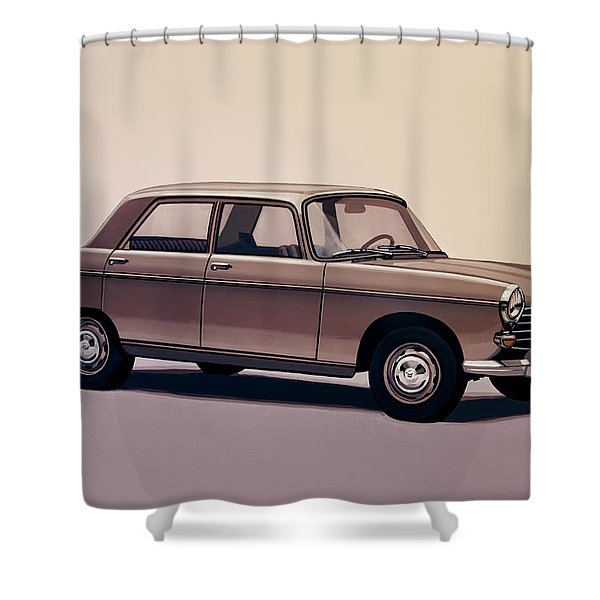 Peugeot 404 1960 Painting Shower Curtain