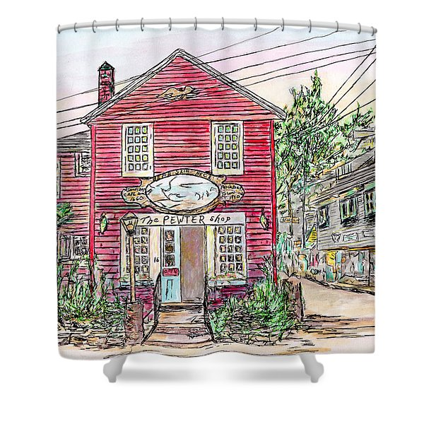 Pewter Shop, Rockport Massachusetts Shower Curtain
