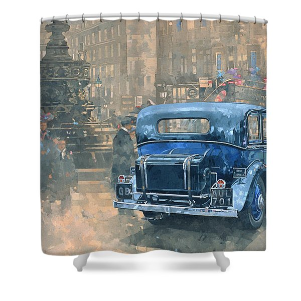 Phantom In Piccadilly  Shower Curtain