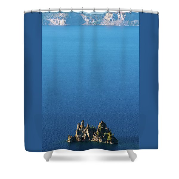 Phantom Ship Island Crater Lake National Park Oregon 2 Shower Curtain