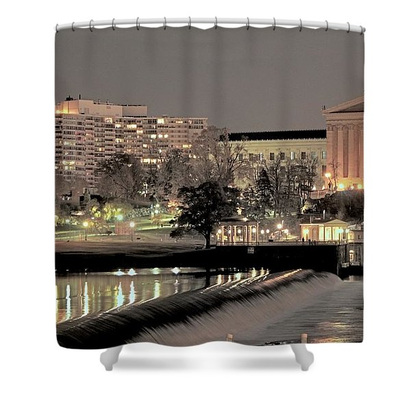 Philadelphia Art Museum In Pastel Shower Curtain
