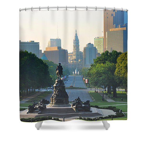 Philadelphia Benjamin Franklin Parkway Shower Curtain