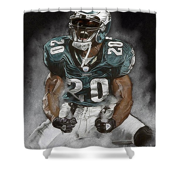 Philadelphia Eagles Brian Dawkins The Legend Shower Curtain