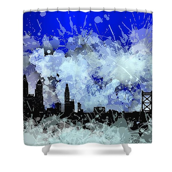 Philadelphia Skyline.1 Shower Curtain
