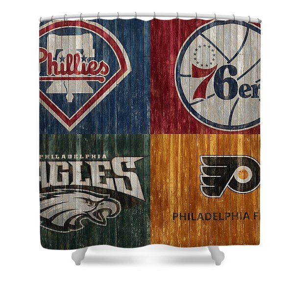 Philadelphia Sports Teams Shower Curtain