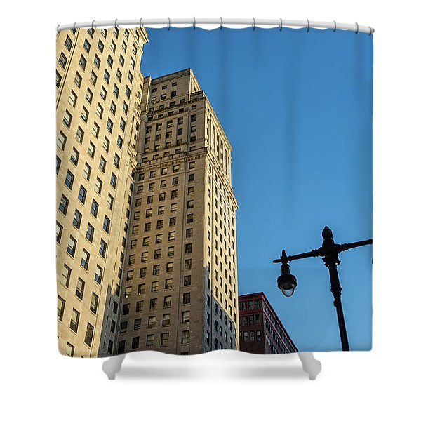 Philadelphia Urban Landscape - 0948 Shower Curtain