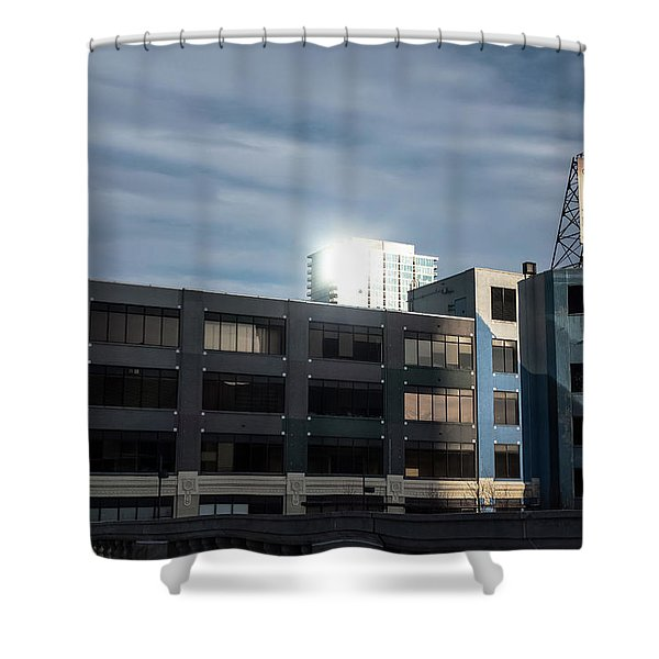 Philadelphia Urban Landscape - 1195 Shower Curtain