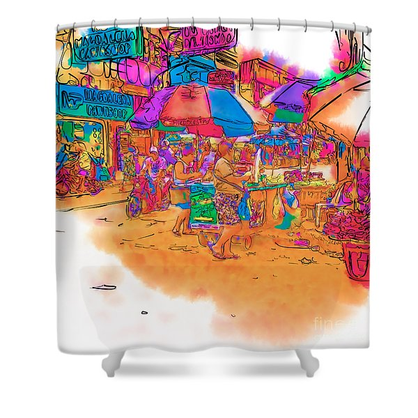 Philippine Open Air Market Shower Curtain