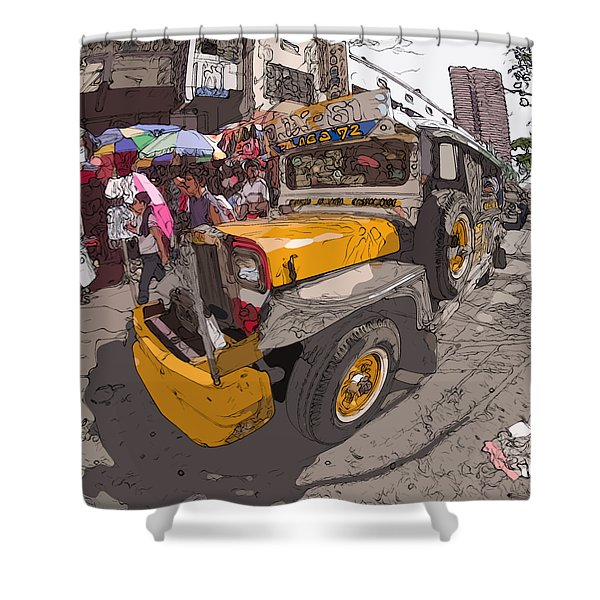 Philippines 1261 Jeepney Shower Curtain