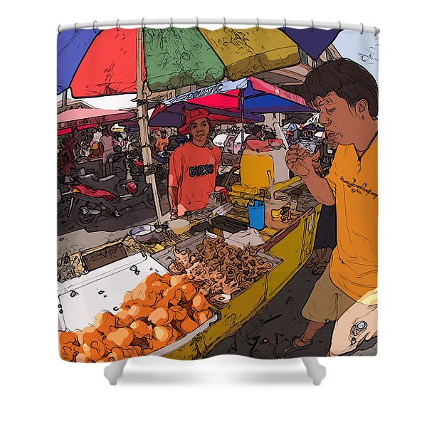 Philippines 1299 Street Food Shower Curtain