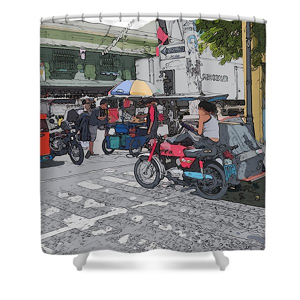 Philippines 673 Street Food Shower Curtain