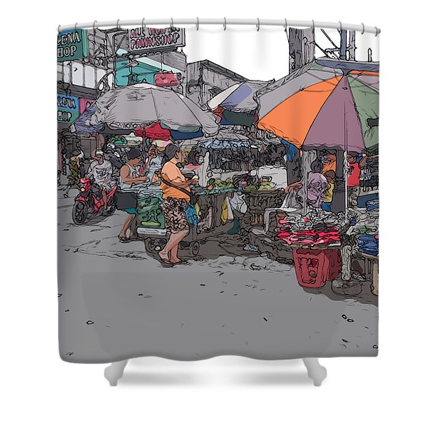 Philippines 708 Market Shower Curtain