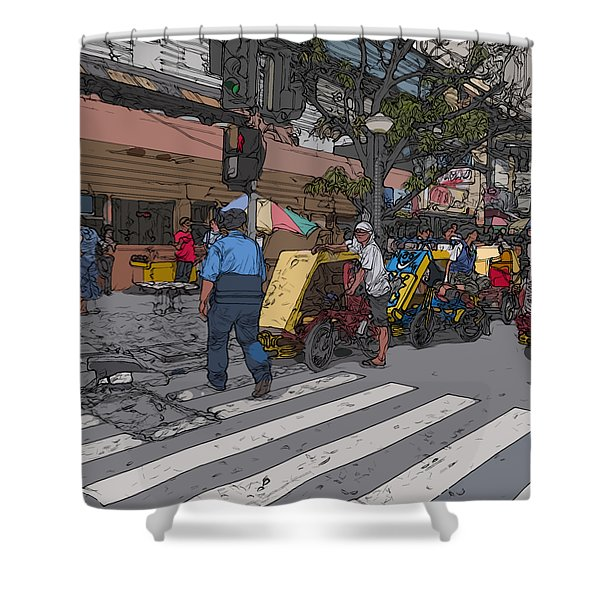 Philippines 906 Crosswalk Shower Curtain