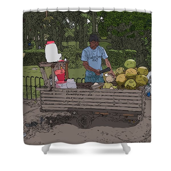 Philippines 936 Buko Shower Curtain