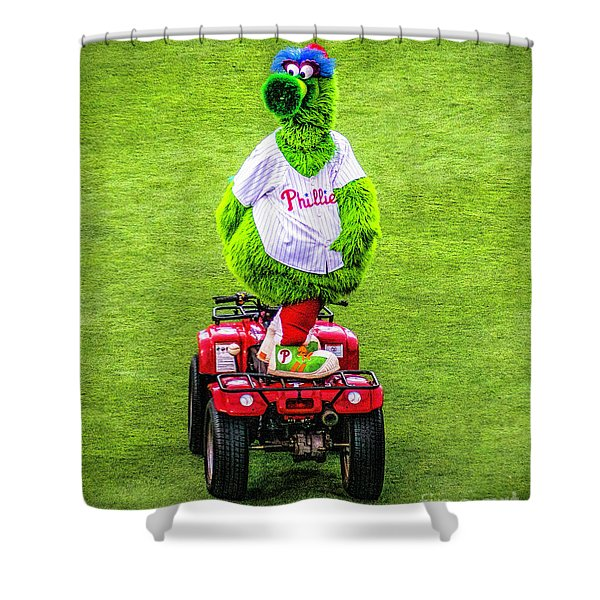 Phillie Phanatic Scooter Shower Curtain