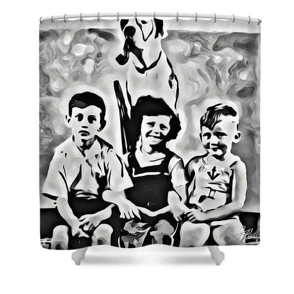 Philly Kids With Petey The Dog Shower Curtain