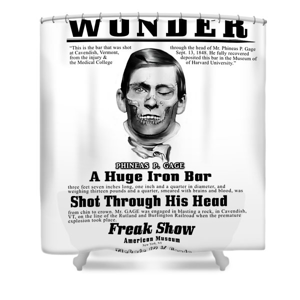 Phineas Gage World's Wonder Shower Curtain