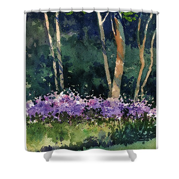Phlox Meadow, Harrington State Park Shower Curtain