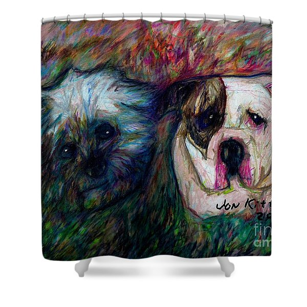 Phoebe And Ace Shower Curtain