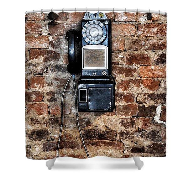 Pay Phone  Shower Curtain