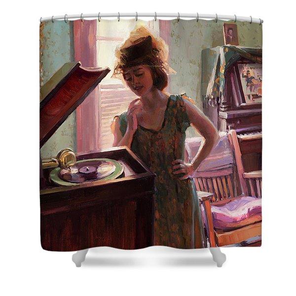 Phonograph Days Shower Curtain