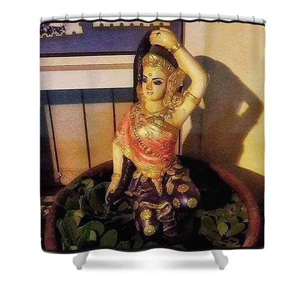 Shower Curtain featuring the photograph Phra Mae Thorani. Holy Mother Of Earth by Mr Photojimsf