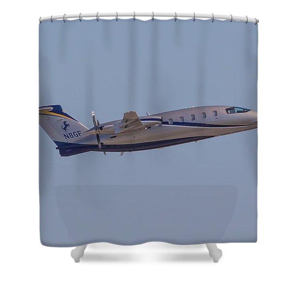 Piaggio P-180 Shower Curtain